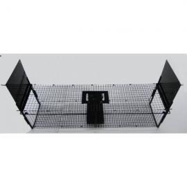 Jaula trampa para ratas u otros animales metálica con doble puerta.