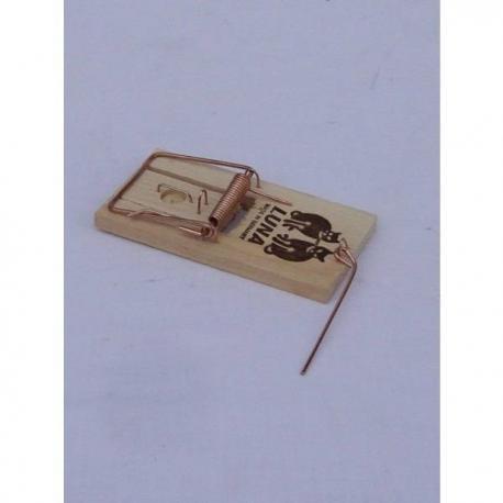 Trampa para ratones clásica de madera y muelle