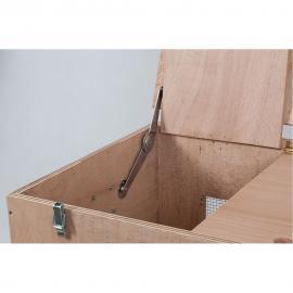 Bisagra tipo compas para tapa de cajas de transporte 20 cm Set de dos(D+ I)