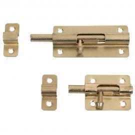 Pestillo para puerta pequeño 45,3mm x 37,4mm en galvanizado set completo