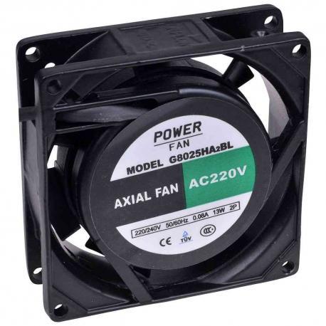 """Ventilador """"Powerfan"""" 80x850x25 mm, cojinete de bolas, rejilla y cables"""