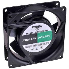 """Ventilador para incubadoras """"Powerfan"""" 92x92x25 mm con cojinete de bolas, rejilla y cables"""