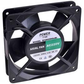 """Ventilador para incubadoras """"Powerfan"""" 120x120x25 mm con cojinete de bolas, rejilla y cables"""