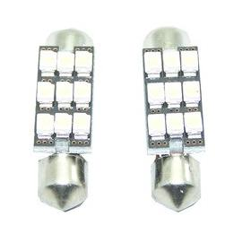 Pareja de bombillas LED CAN BUS interior o matricula de 36mm 9 SMD