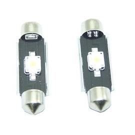 Pareja de bombillas LED CAN BUS interior o matricula de 42mm 1 SMD