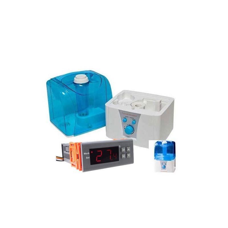 kit higrostato controlador de humedad y humidificador