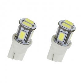 Pareja de bombillas LED Cambus T10 6led 5730smd 12v dc