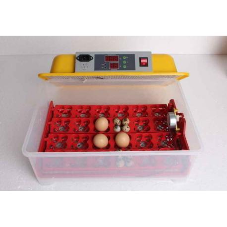 Incubadora con volteo automático 24/96 huevos
