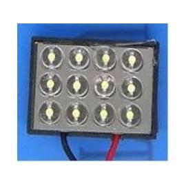 Pareja de bombillas de led tipo plafonier para interior y matrícula 12 LEDS con adaptadores