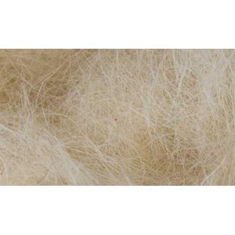 Material natural para nidos de Pelo de Cabra Blanco