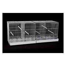 Jaula de cría para pájaros GALEGO II con bandejas plasticas 420x1015x360mm
