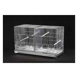 Jaula de cría para pájaros CADIZ 4 comedros y 1 división 360x580x275mm