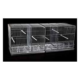 Jaula de cría para pájaros GALEGO II Gris 420x1010x400mm
