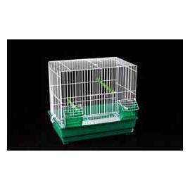 Jaula de cría para pájaros plastificada 2 comedros 343x380x245mm