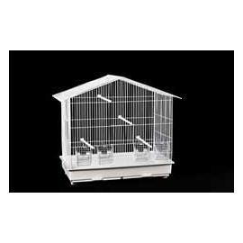 Jaula para pájaros ROLA paso estrecho 4 comederos 560x645x315mm