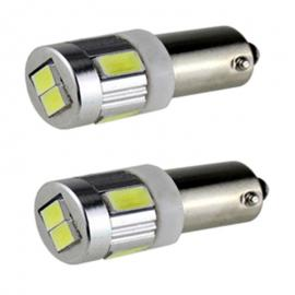 Pareja de bombillas LED CAN BUS BA9S 8LEDS SMD