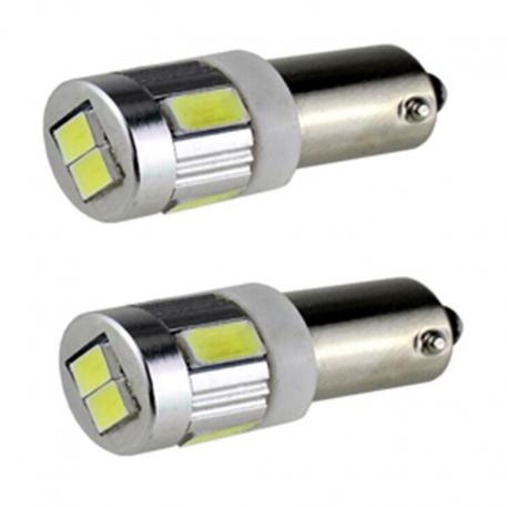 Pareja de bombillas LED CAN BUS BA9S 8LEDS SMD