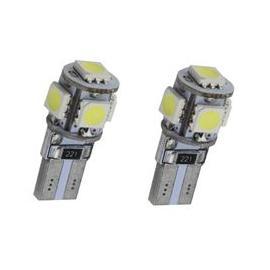Pareja de bombillas LED Cambus para posición, luz interior o matrícula con 5 LED