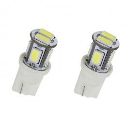 Pareja de bombillas LED Cambus para posición, luz interior o matrícula 6led 5730smd 12v dc
