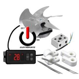 Kit para incubadoras Termostato AKO Resistencia de Hilo y Ventilador de Aspas