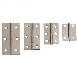 Bisagra de tipo zincada color plata de 66mm con 2x3 agujeros para sujección