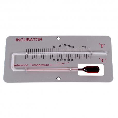 Termómetro de mercurio para incubadora con soporte en grados Celsio y Fahrenheit