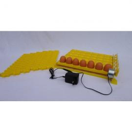 Bandeja amarilla volteo automático 42 huevos con 6 bandejas para 120 huevos de codorniz