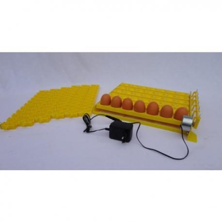 Bandeja amarilla volteo automático 42 huevos con 6 bandejas para 120 huevos de codorniz_3