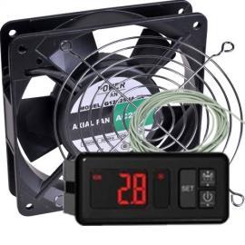 Kit para incubadoras Termostato AKO Resistencia y Ventilador de Bolas