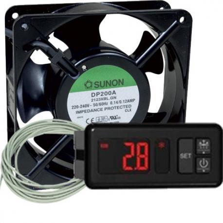Kit para incubadoras Termostato AKO Resistencia y Ventilador (Kit Básico)