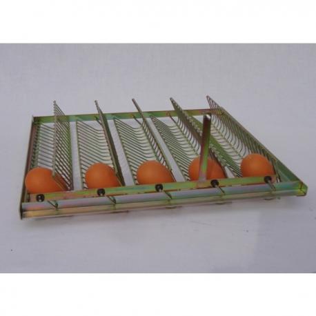 Bandeja para huevos de gallina metalica 35 huevos