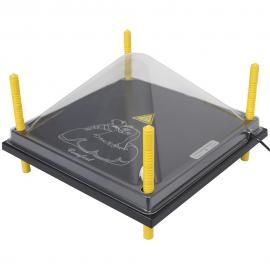 Tapa de protección para paneles CALENTADORES 40X40CM, Plástica
