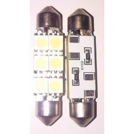 Pareja de bombillas LED luz interior o matricula de 42mm 6 SMD