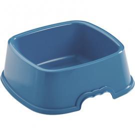 Comedero plástico cuadrado 0.75l para perro colores