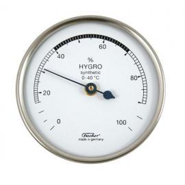 Higrómetro sintético para medir la humedad carcasa plástica con luneta en inox diámetro 67mm
