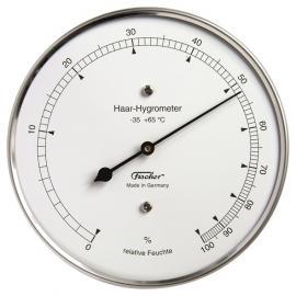Higrómetro pelo natural para medir la humedad con caja de acero inoxidable diámetro 103mm