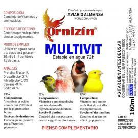 ORNIZIN Multivit complemento de vitaminas y aminoácidos 160ML