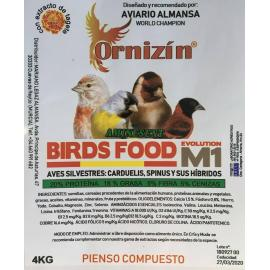 ORNIZIN Birds Food Evolution M1 pienso compuesto silvestres 4kg