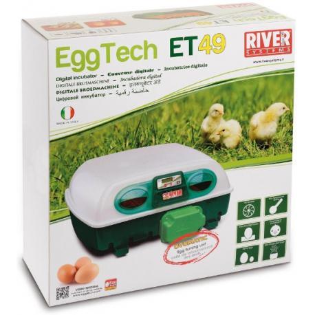 Incubadora River Systems digital automática 49 huevos / 196 cordoniz