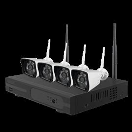 Kit de Videovigilancia Nivian 4 Cámaras Conexión ethernet y WiFi