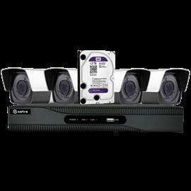 Kit de Videovigilancia Safire Preconfigurado 4 Cámaras Bullet Lente Varifocal 1080p 1TB