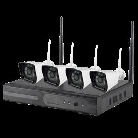 Kit de Videovigilancia Nivian 4 Cámaras HDD 1TB Conexión ethernet y WiFi