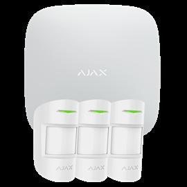 Kit Alarma Hogar Ajax Inalámbrico 868 MHz Jeweller 3 Detectores PIR Certificado Grado 2 Conexion Ethernet GPRS