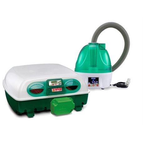 Incubadora River Systems digital automática con capacidad para 49 huevos de gallina o 196 de codorniz con Humedad Automatica
