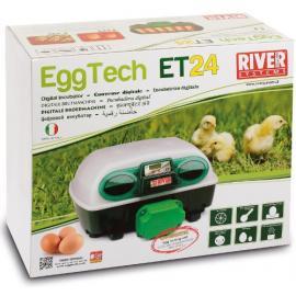 RESERVA CON DESCUENTO Incubadora River Systems digital automática 24 huevos / 96 cordoniz