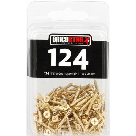 SET 124 PCS TIRAFONDO 2,5 X 20 MM