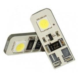 Pareja de bombillas LED Cambus para posición, luz interior o matrícula con 2 LED