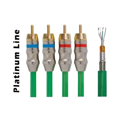 Cable RCA 4 Canales 5M VERDE