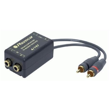 Desacoplador de masa filtro de ruido RCA