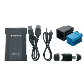 Interface entrada Auxiliar AUDI SD-USB-MP3